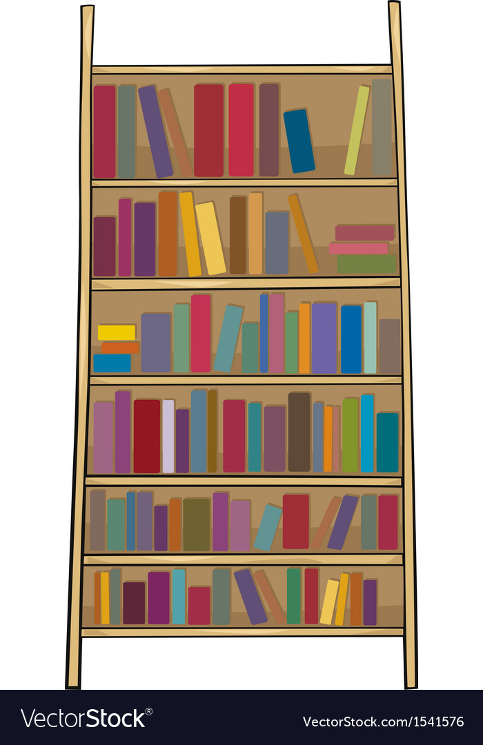 Book shelf clip art cartoon vector | Price: 1 Credit (USD $1)