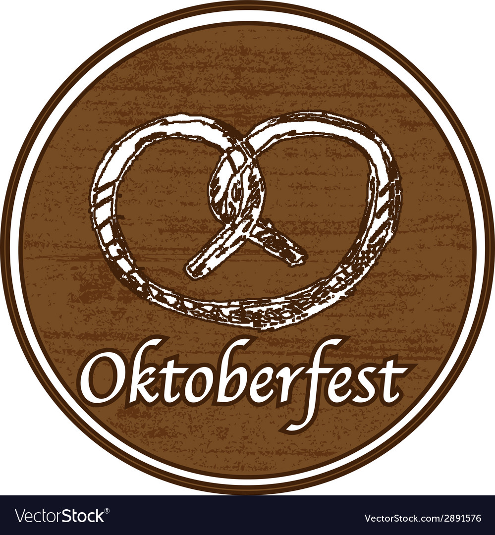Brown oktoberfest stamp vector | Price: 1 Credit (USD $1)