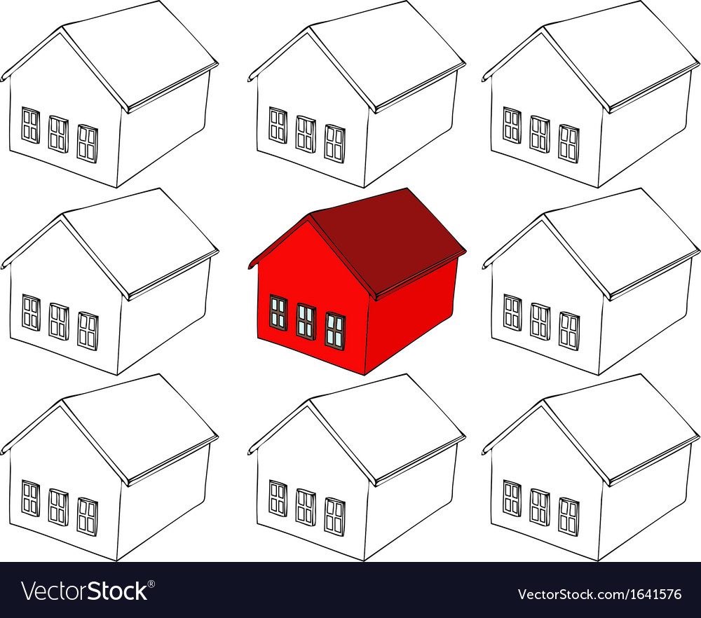 Choosing a home vector | Price: 1 Credit (USD $1)