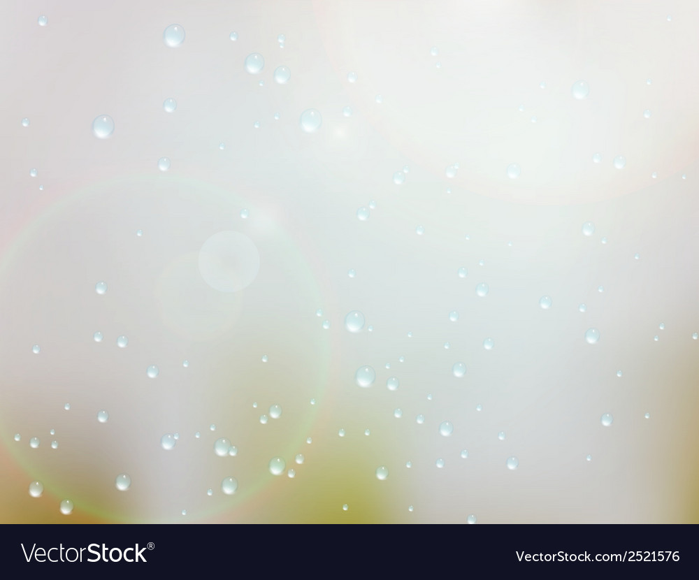 Drops of rain on the window eps10 vector | Price: 1 Credit (USD $1)