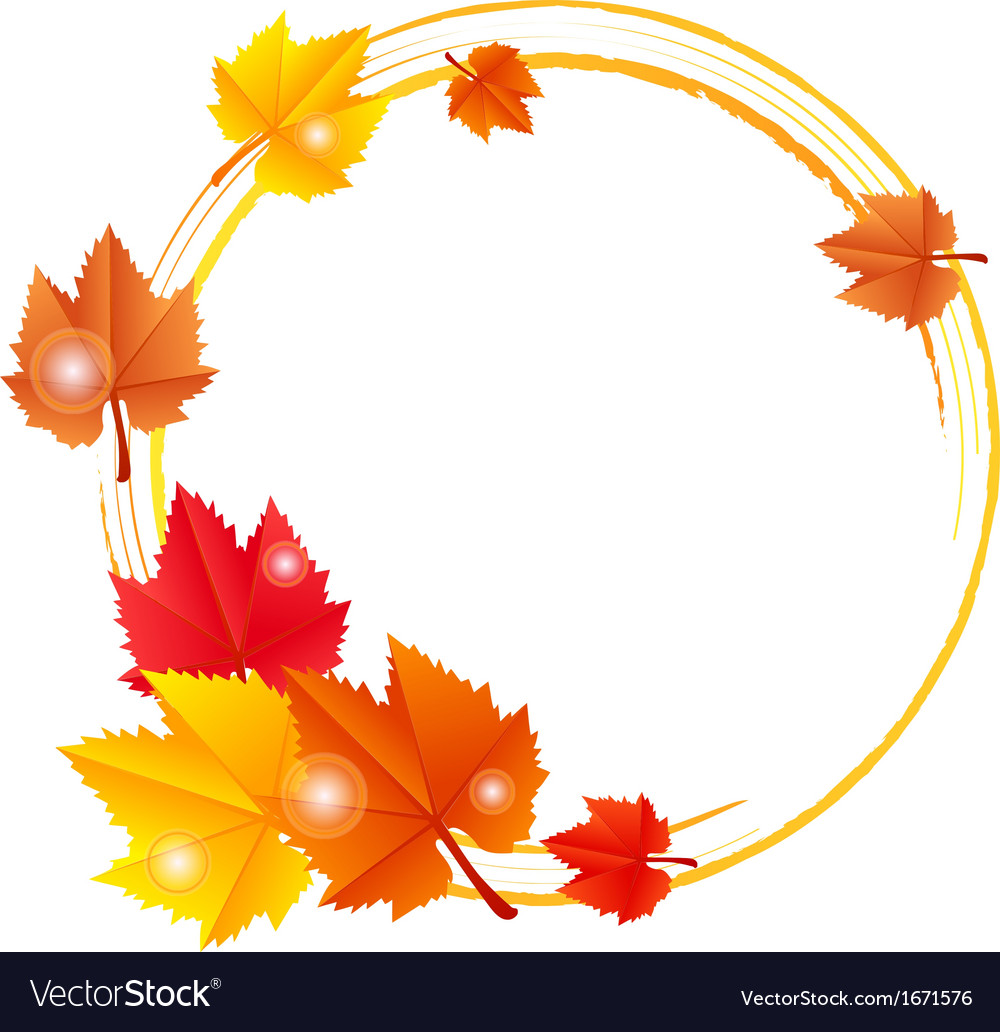 Fall leaves frame vector   Price: 1 Credit (USD $1)