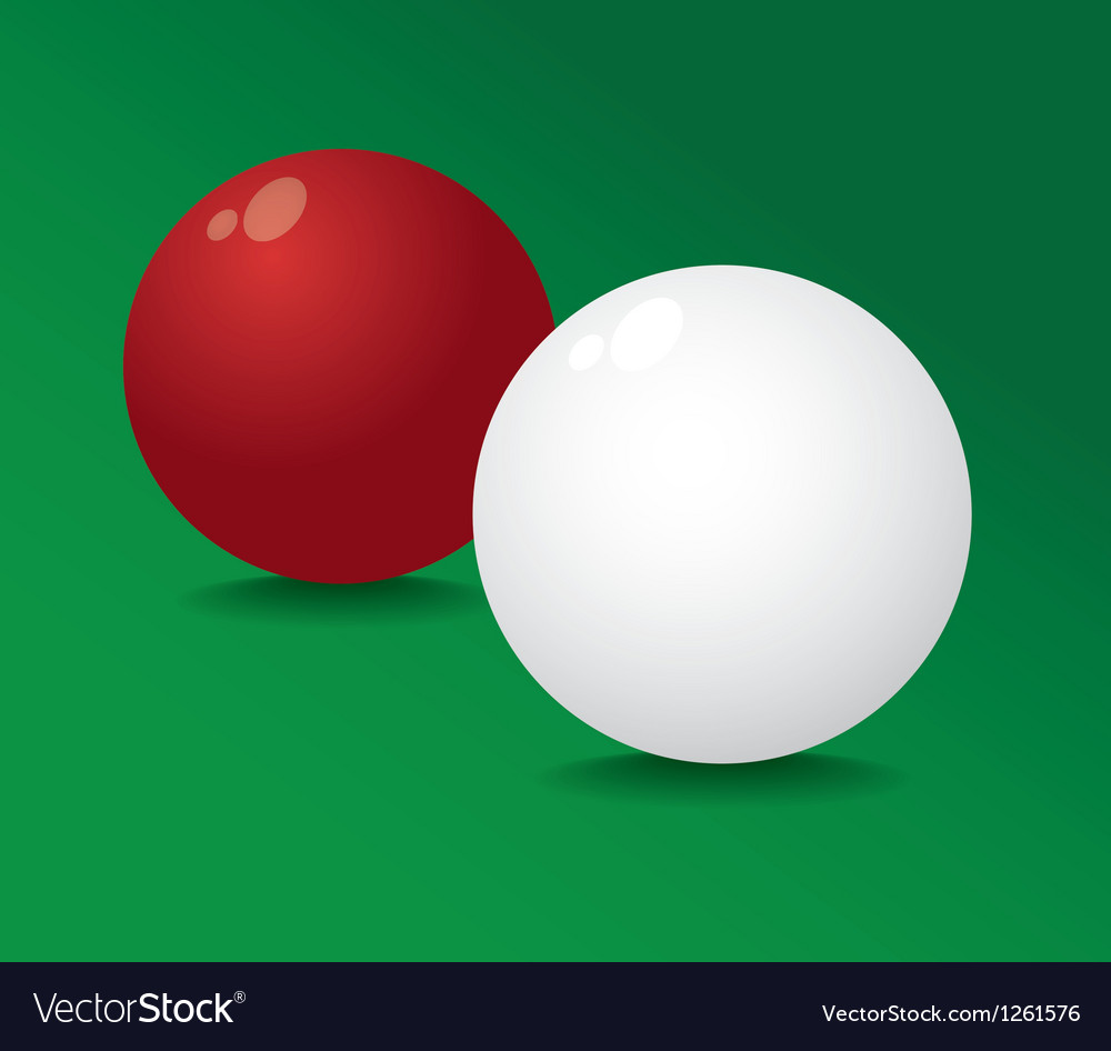 Realistic pool ball full red and white - vector | Price: 1 Credit (USD $1)