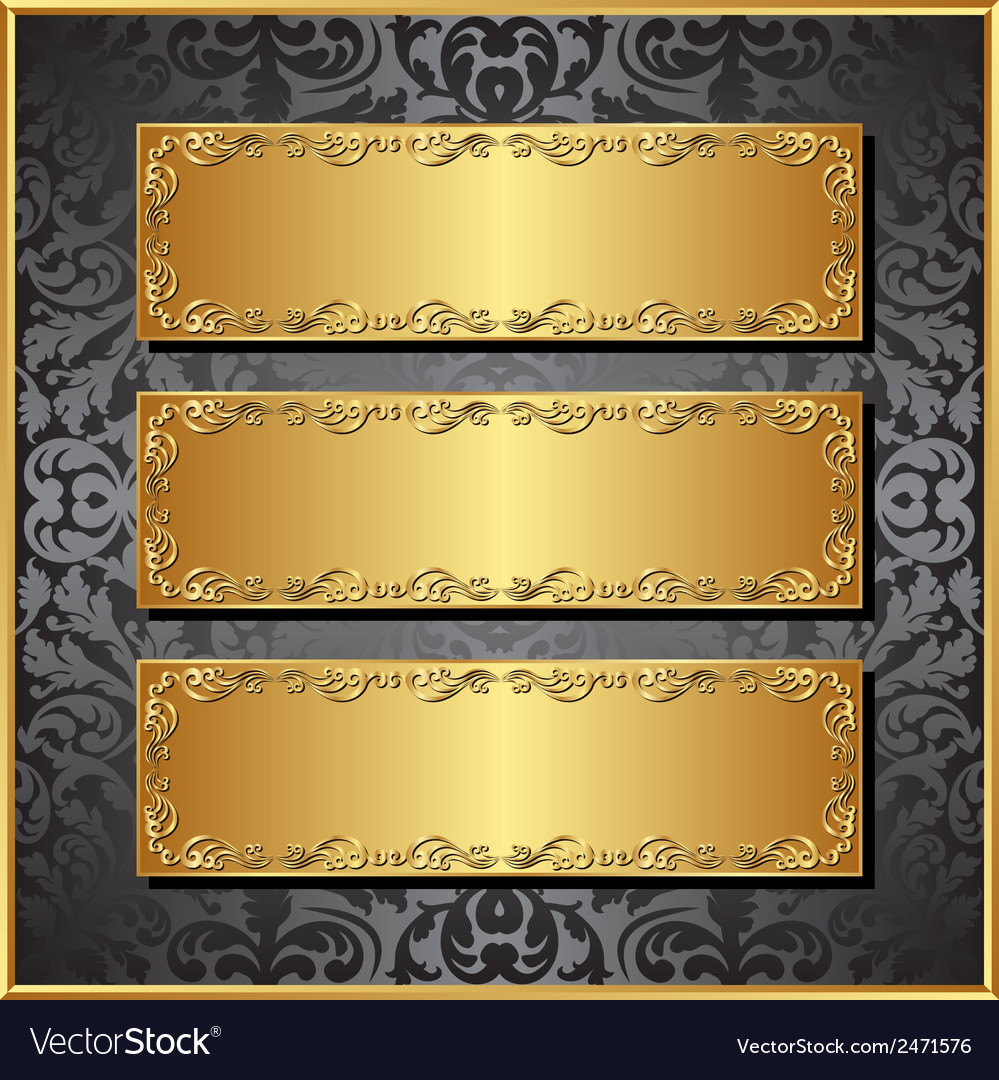 Three banners vector | Price: 1 Credit (USD $1)