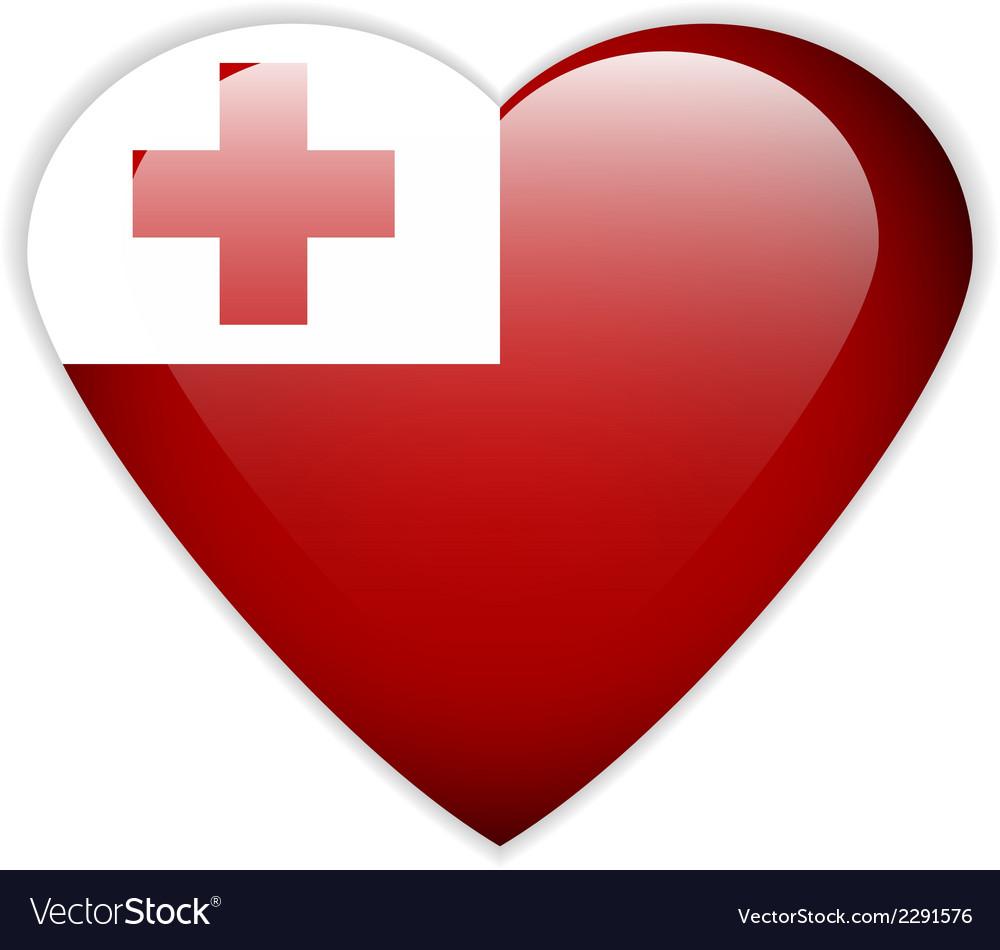 Tonga flag button vector | Price: 1 Credit (USD $1)