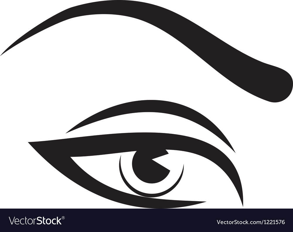 Woman eye and brow vector | Price: 1 Credit (USD $1)