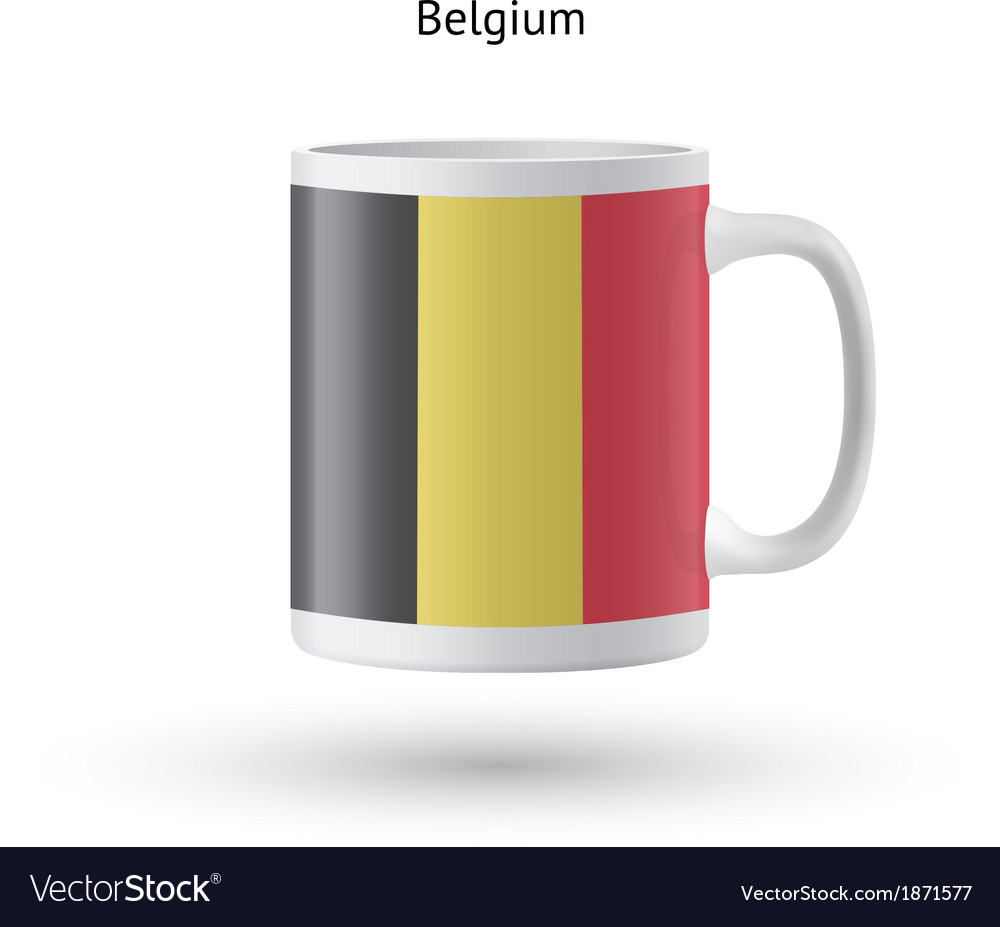 Belgium flag souvenir mug on white background vector | Price: 1 Credit (USD $1)