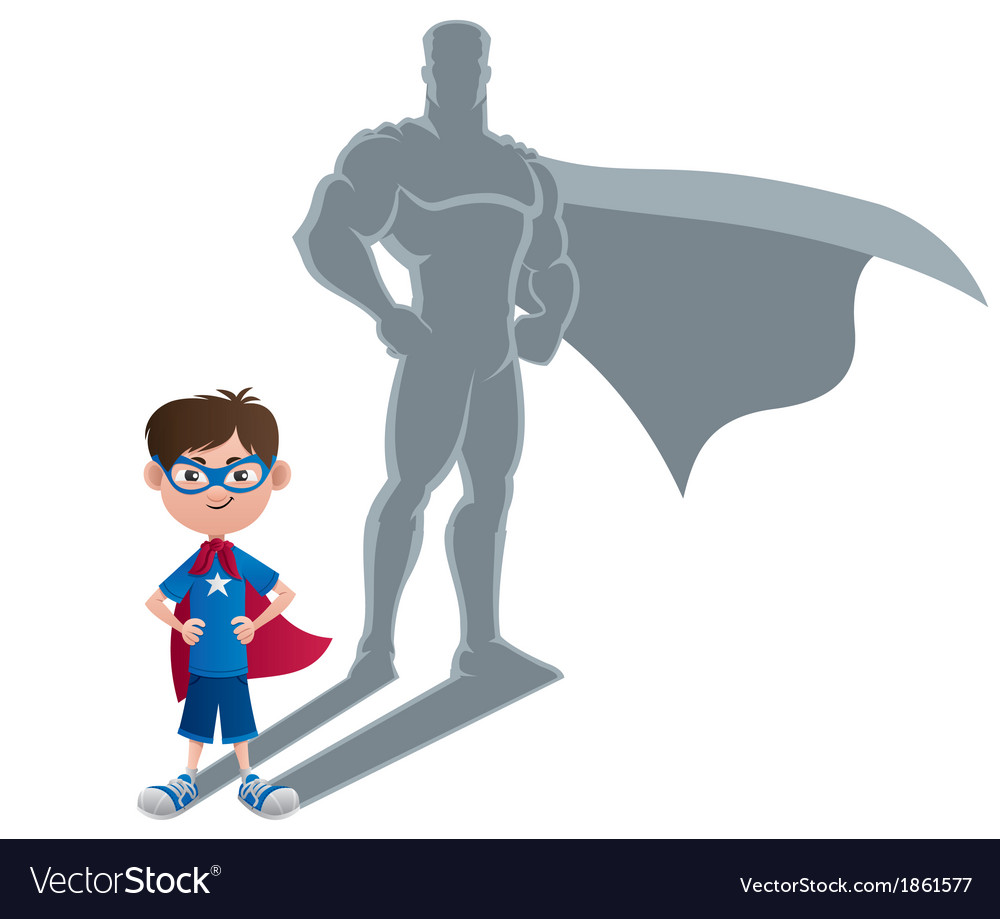 Boy superhero concept vector | Price: 1 Credit (USD $1)