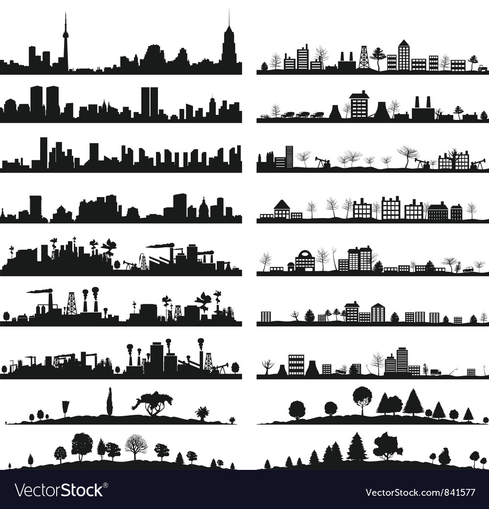 City landscape vector | Price: 1 Credit (USD $1)