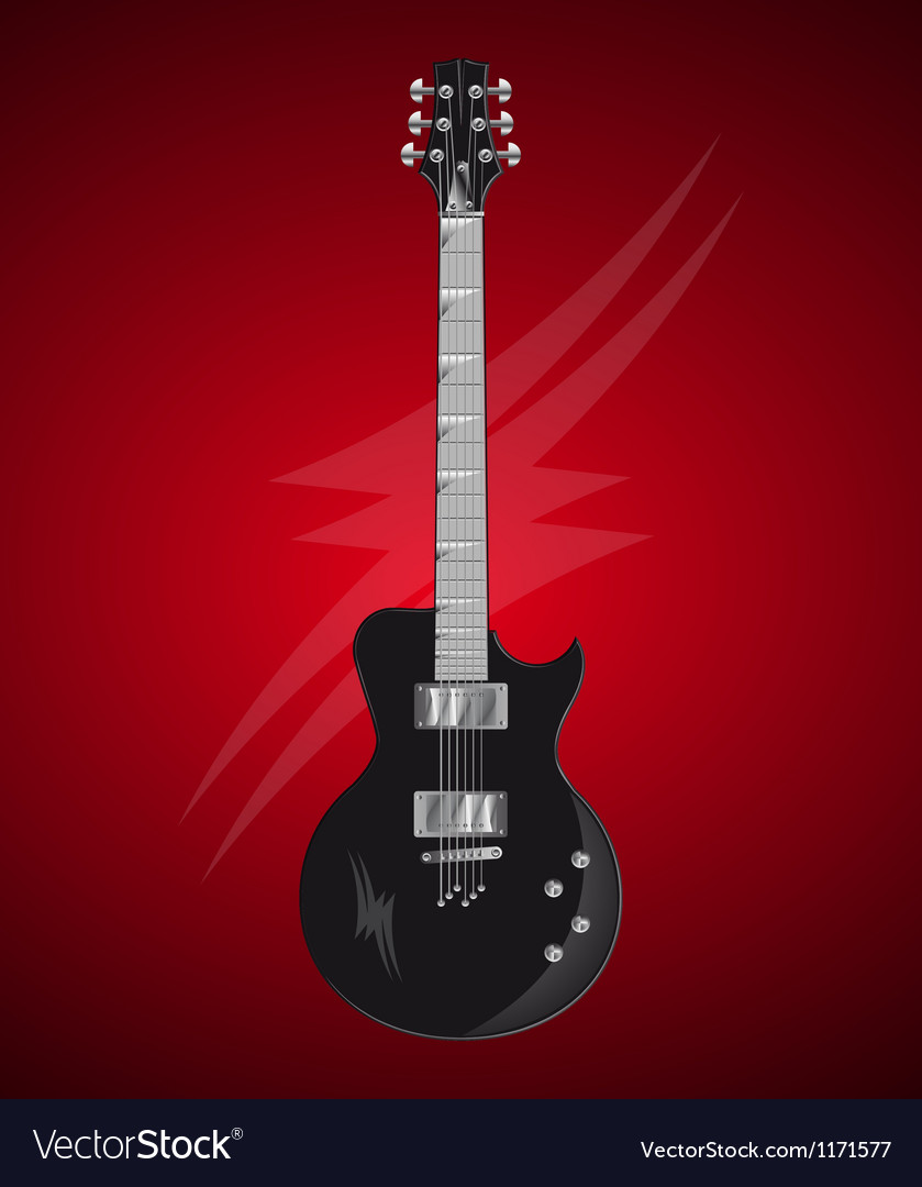 Detailed electric guitar vector   Price: 1 Credit (USD $1)