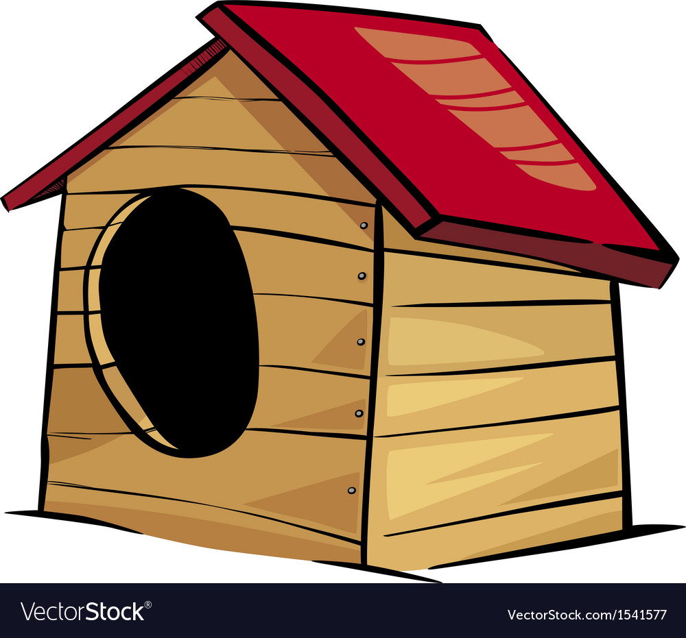Doghouse clip art cartoon vector | Price: 1 Credit (USD $1)