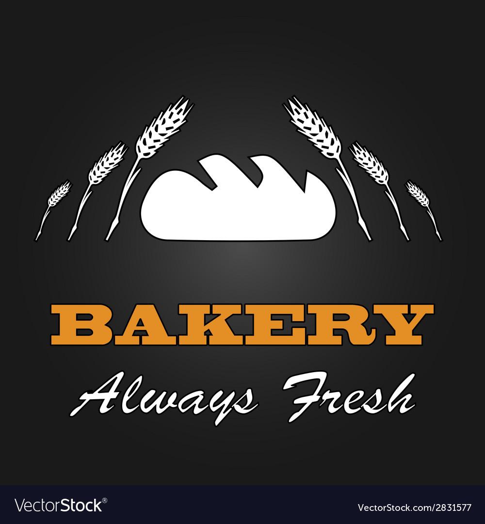 Fresh bread vintage design menu poster vector | Price: 1 Credit (USD $1)