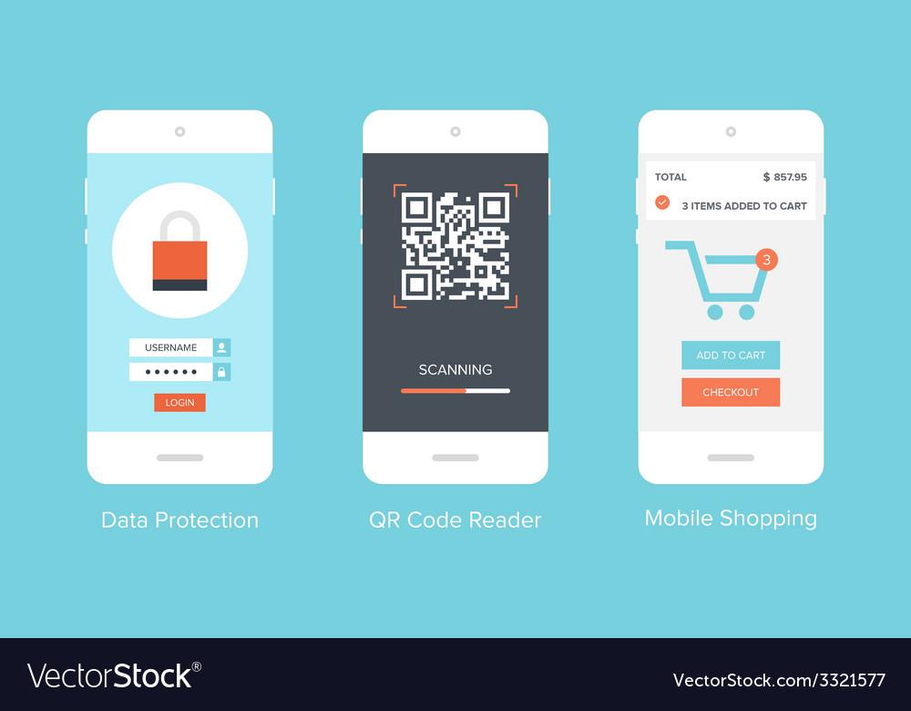 Mobile ui vector | Price: 1 Credit (USD $1)
