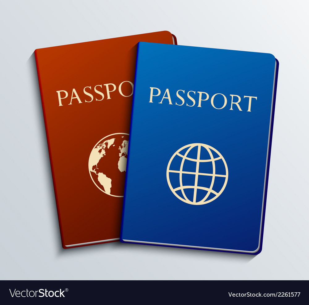 Modern passports set vector | Price: 1 Credit (USD $1)