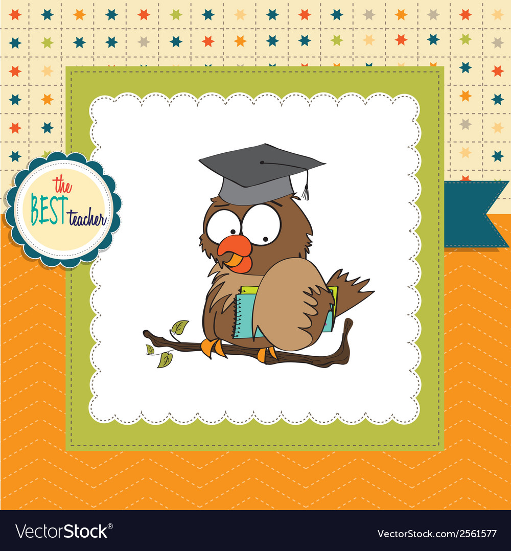 Owl teacher in format vector | Price: 1 Credit (USD $1)