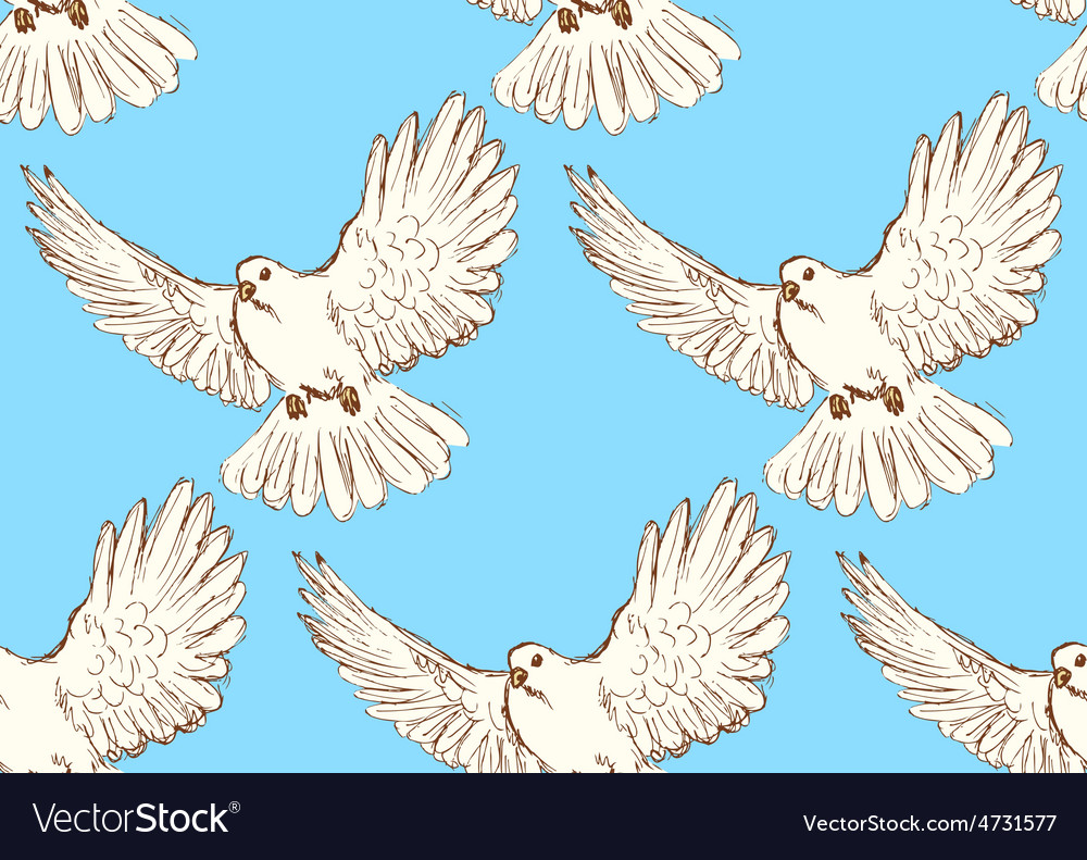 Sketch dove of peace in vintage style vector | Price: 1 Credit (USD $1)