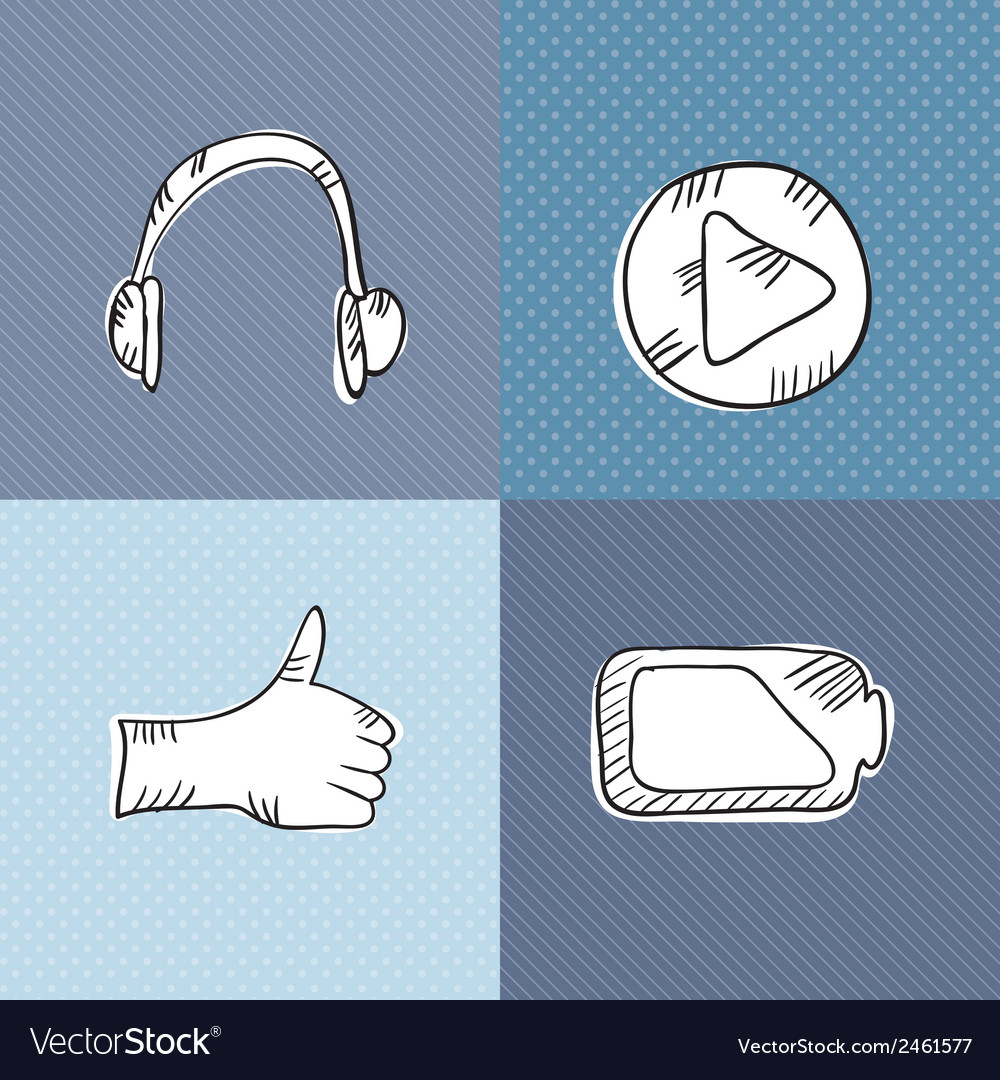 Web icons hand draw vector | Price: 1 Credit (USD $1)