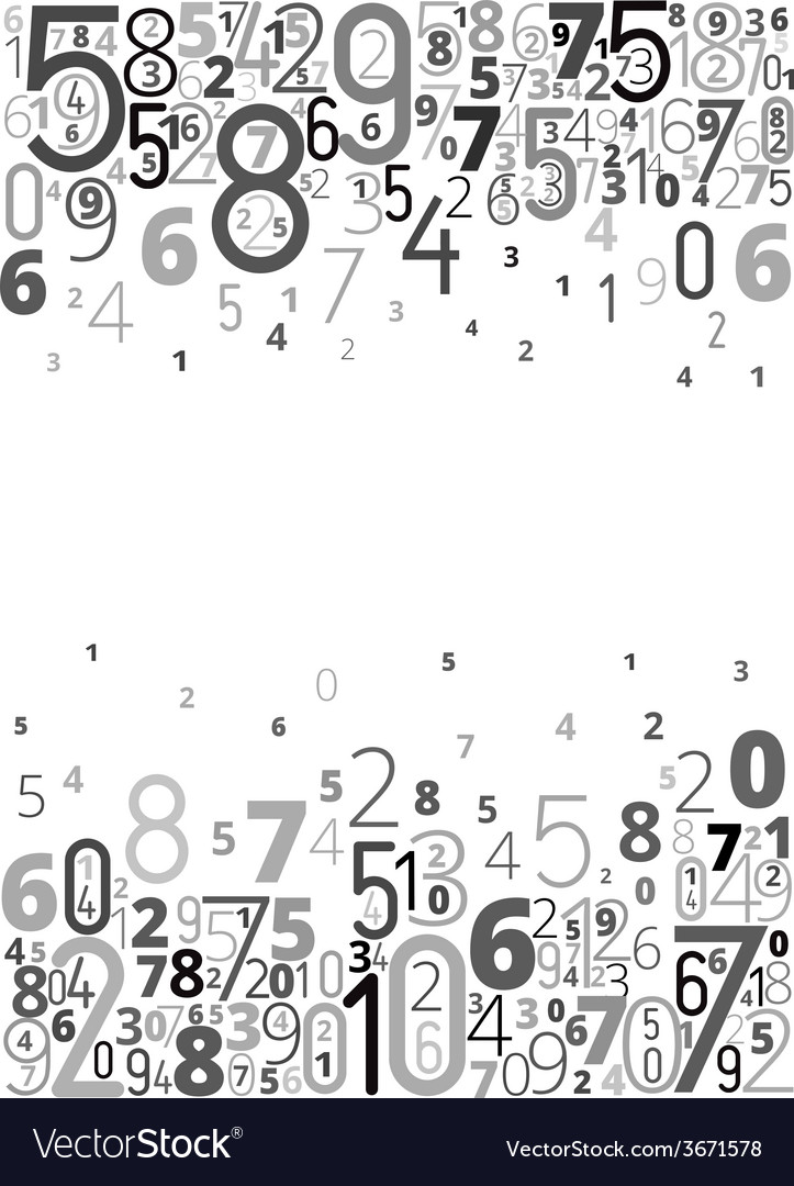 Background from numbers vector   Price: 1 Credit (USD $1)