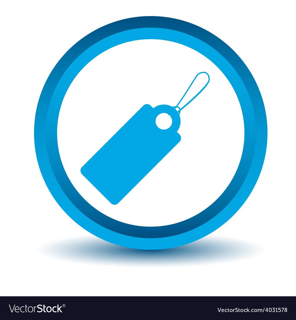 Blue price tag icon vector   Price: 1 Credit (USD $1)