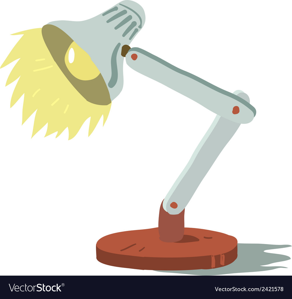 Cartoon tiny cute lamp icon vector | Price: 1 Credit (USD $1)