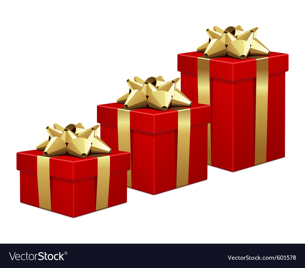 Christmas gift boxes vector | Price: 1 Credit (USD $1)