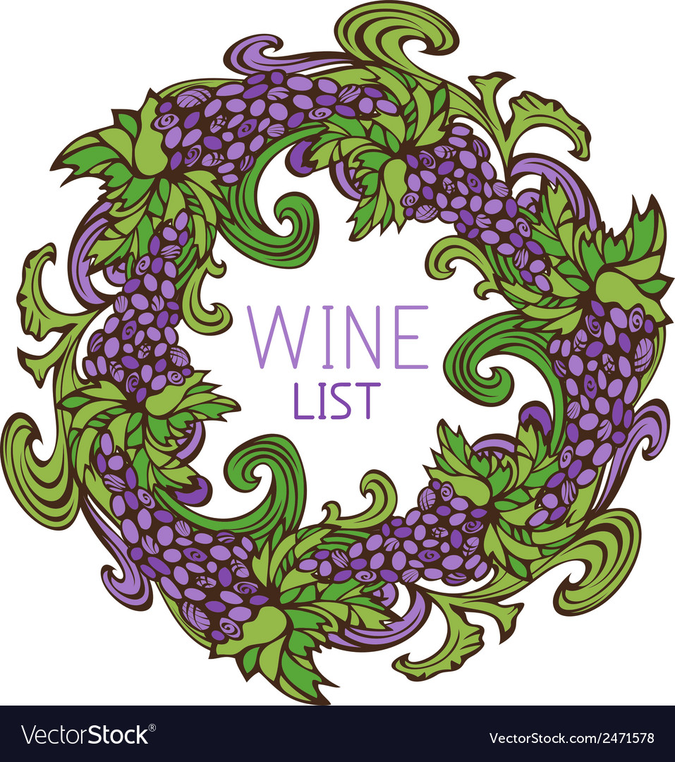 Circle design for wine list vector | Price: 1 Credit (USD $1)
