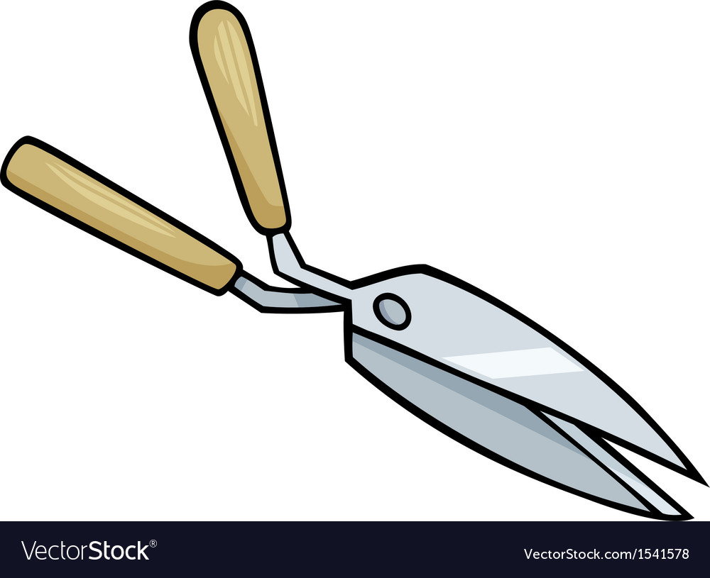 Hedge scissors clip art cartoon vector | Price: 1 Credit (USD $1)