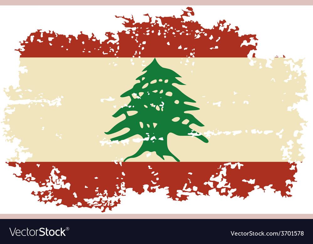 Lebanese grunge flag vector   Price: 1 Credit (USD $1)