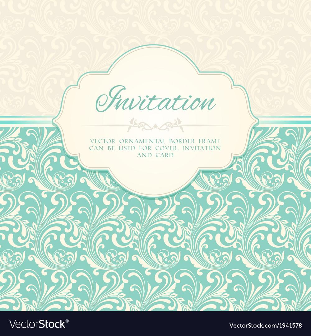 Ornamental pattern invitation card vector | Price: 1 Credit (USD $1)