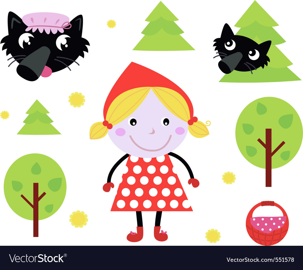 Red riding hood icons vector | Price: 1 Credit (USD $1)