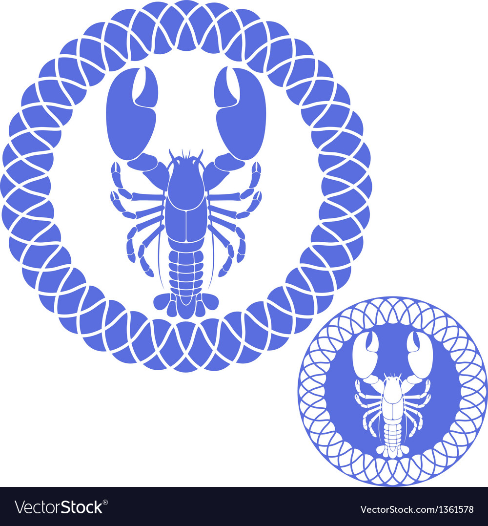 Seafood lobster vector | Price: 1 Credit (USD $1)