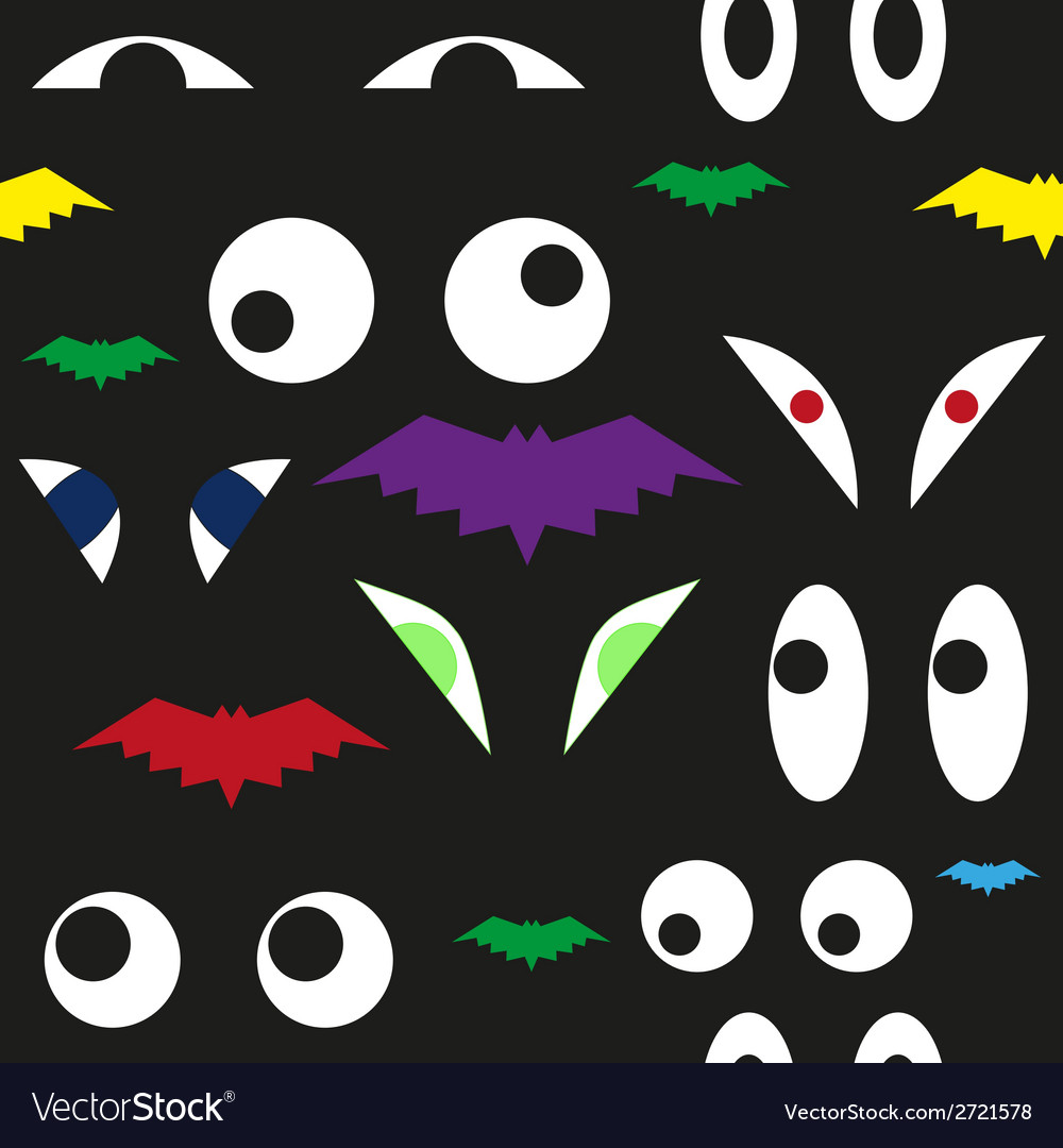 Terrible eyes in the dark seamless pattern vector | Price: 1 Credit (USD $1)