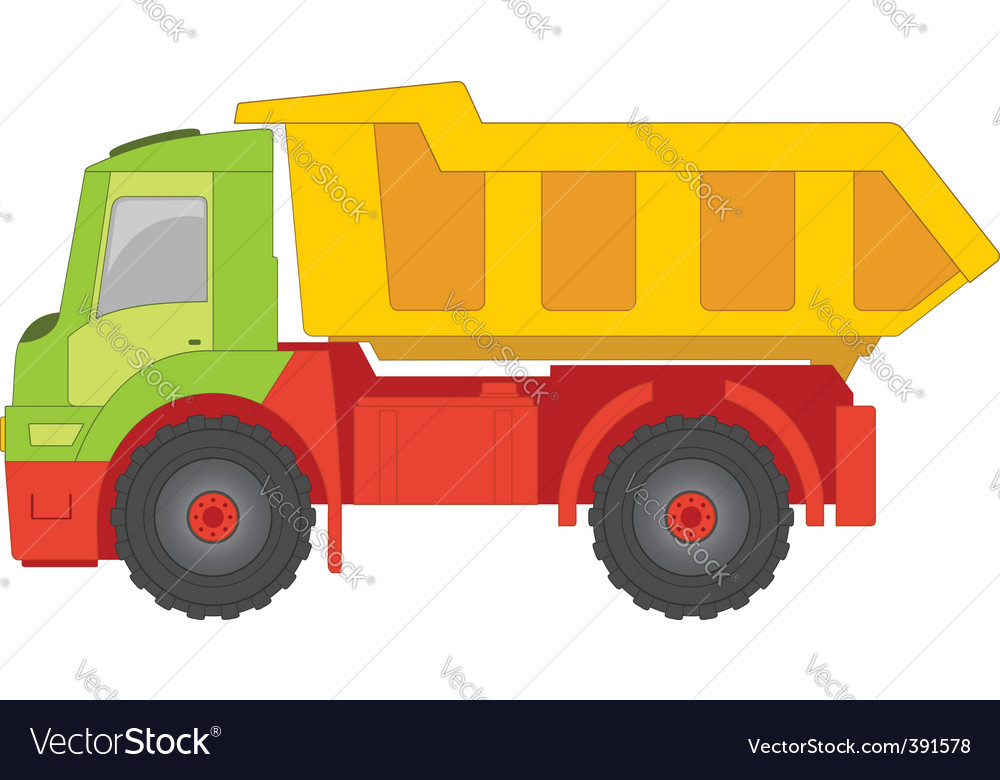 Truck toy vector | Price: 1 Credit (USD $1)