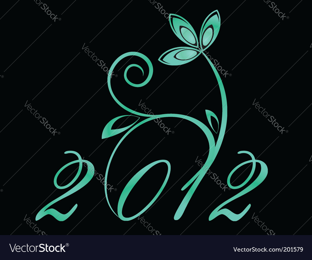 2012 year sign vector | Price: 1 Credit (USD $1)