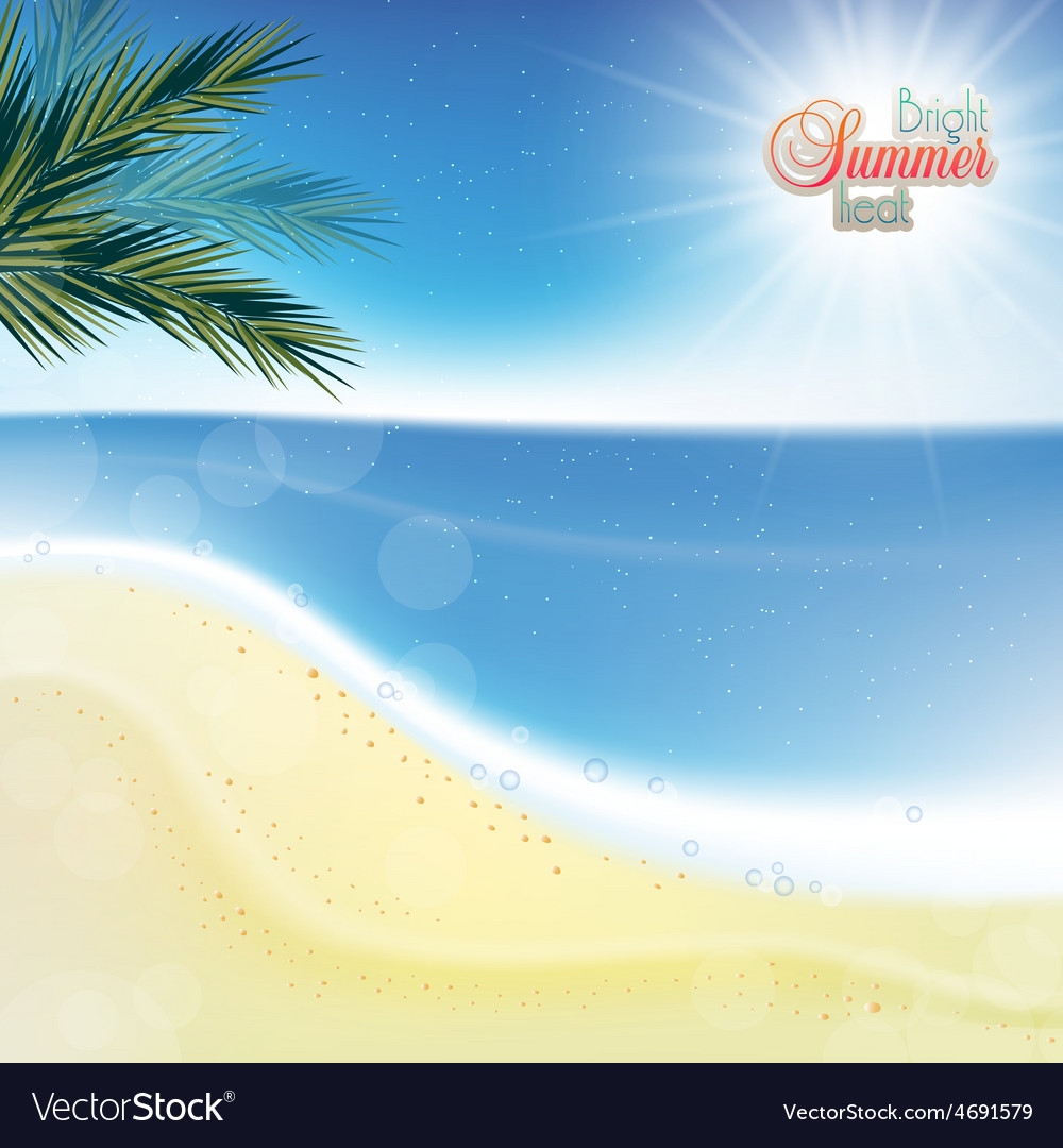 Abstract sea background with white sand vector | Price: 1 Credit (USD $1)