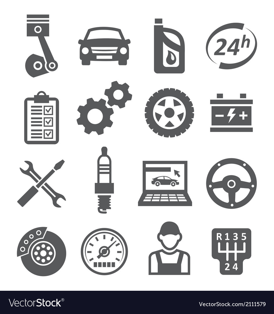 Auto service icons vector | Price: 1 Credit (USD $1)