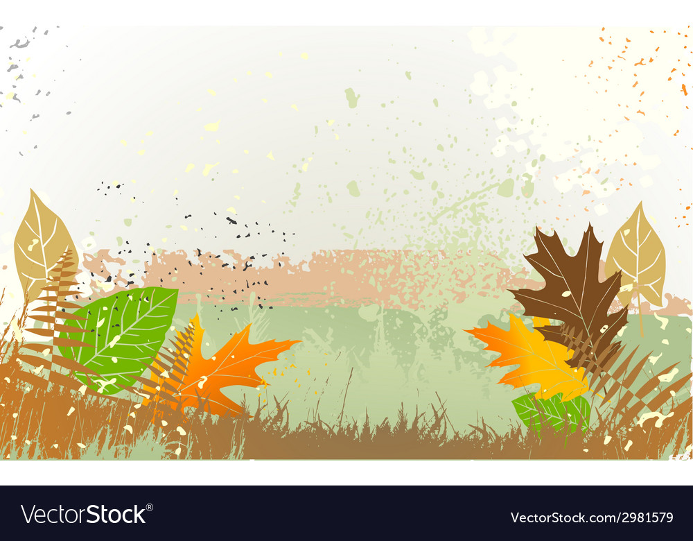 Autumn background with a space for a text vector | Price: 1 Credit (USD $1)