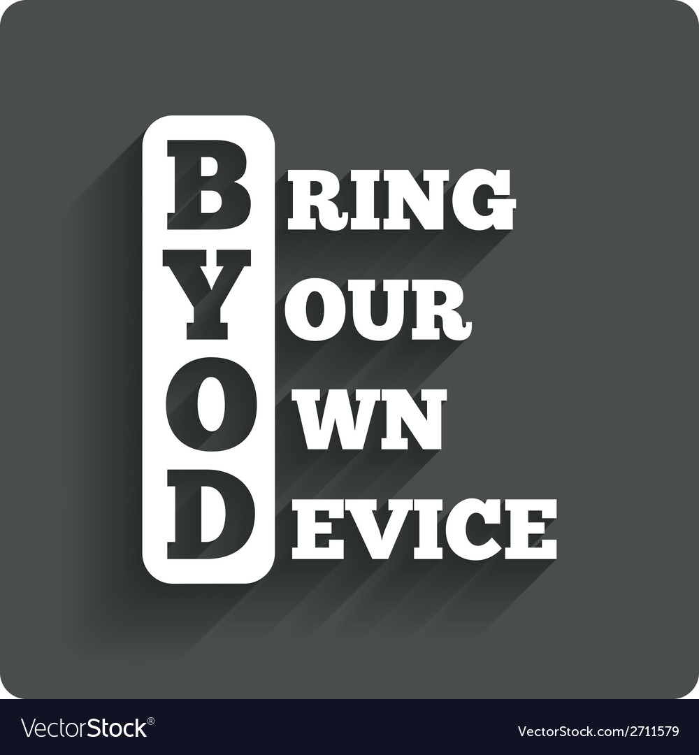 Byod sign icon bring your own device symbol vector | Price: 1 Credit (USD $1)