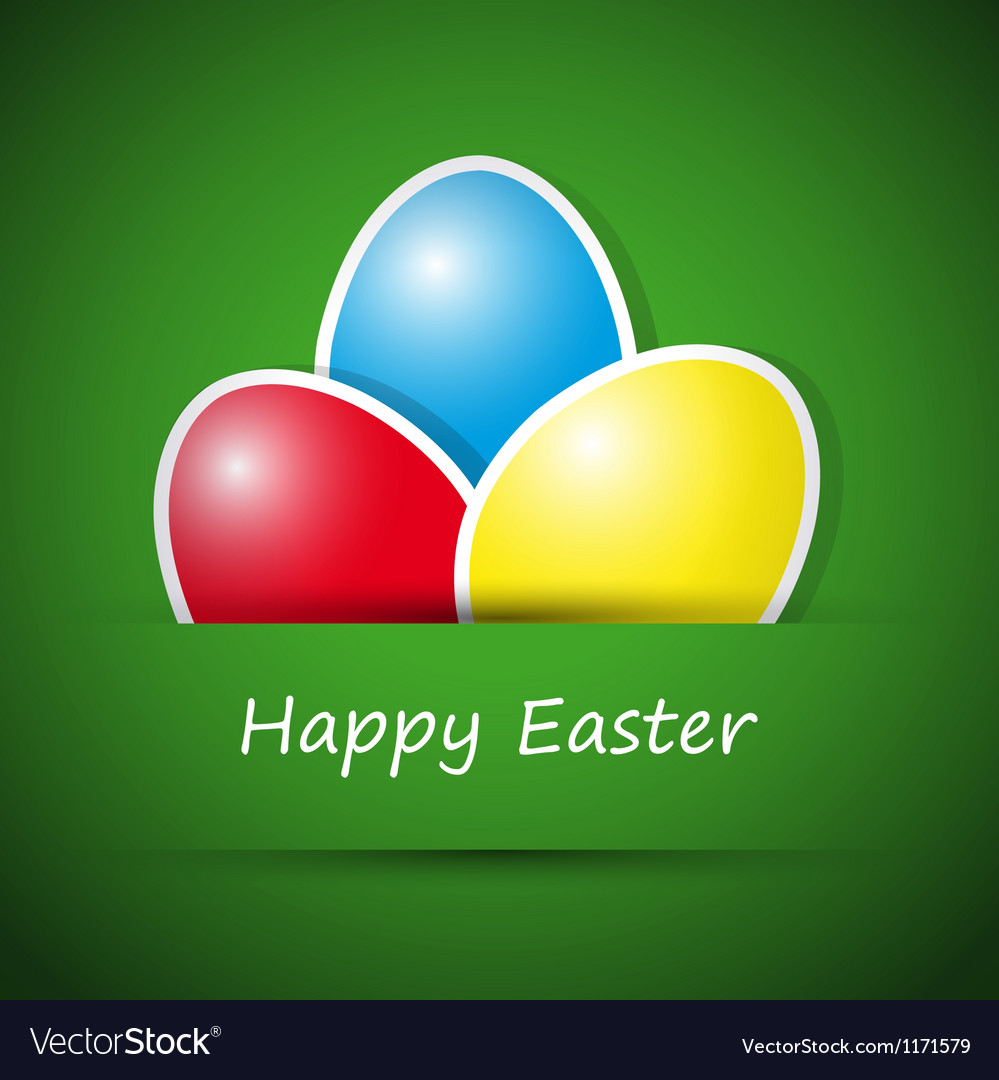 Happy easter card with eggs vector | Price: 1 Credit (USD $1)