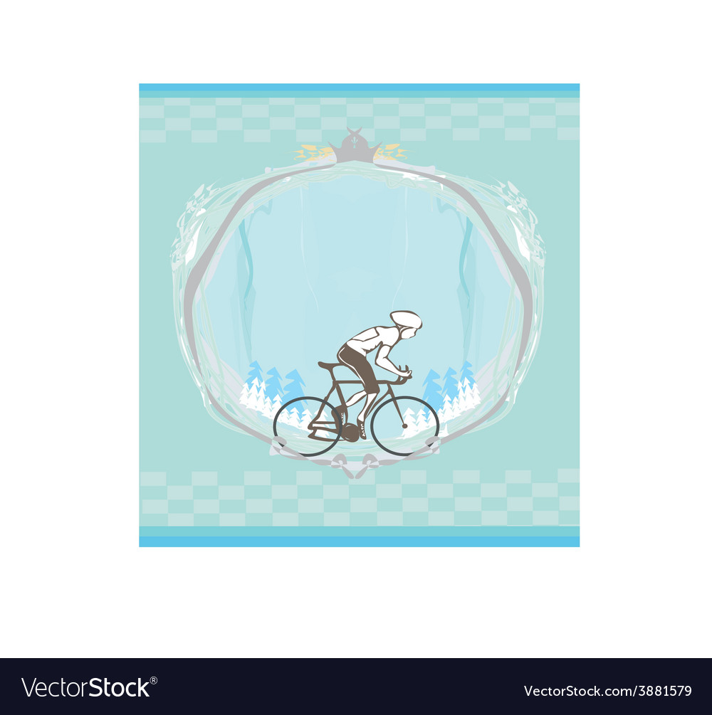 I love cycling banner - abstract frame with space vector | Price: 1 Credit (USD $1)
