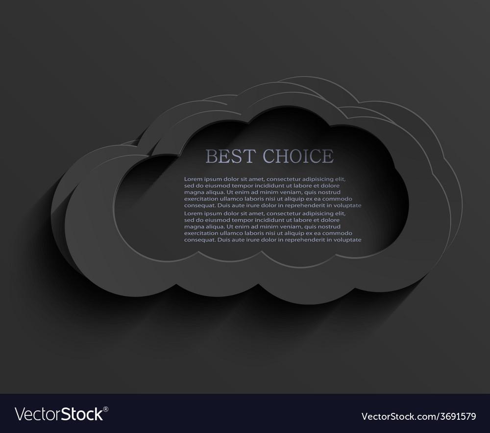 Modern dark cloud background vector | Price: 1 Credit (USD $1)
