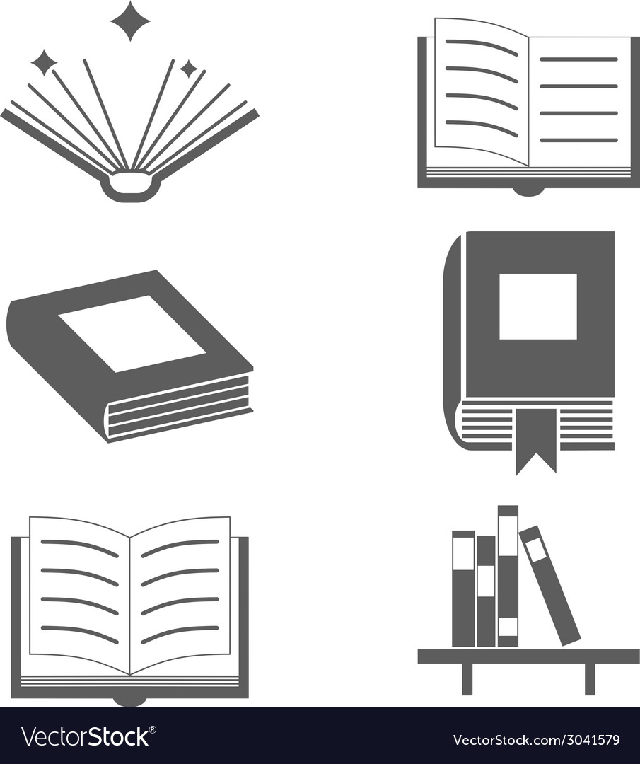 Reading books signs and symbols icons template on vector | Price: 1 Credit (USD $1)