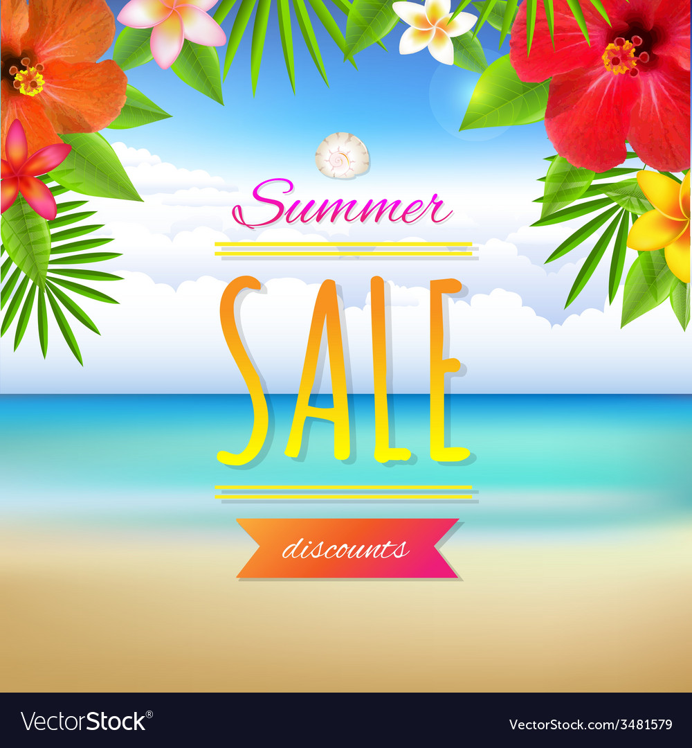 Summer sale card vector | Price: 1 Credit (USD $1)