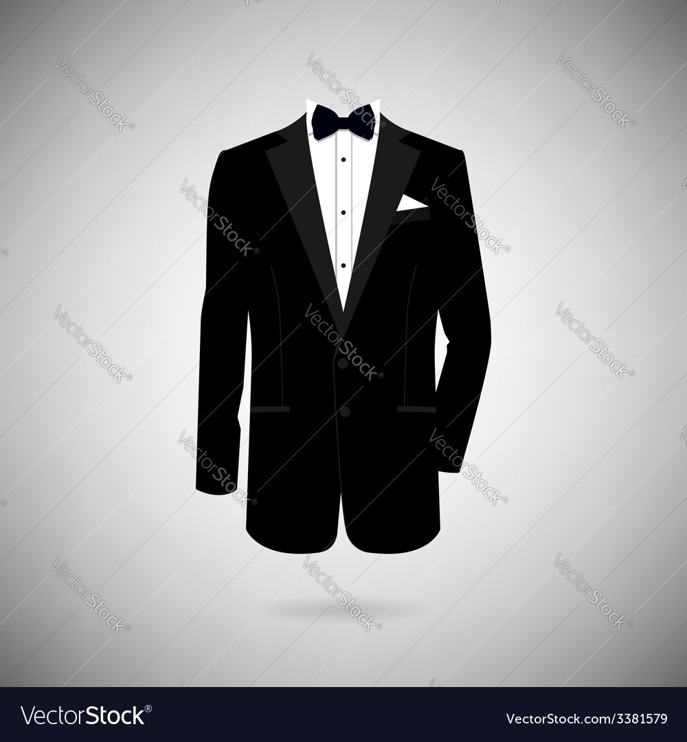 Tuxedo icon vector | Price: 1 Credit (USD $1)