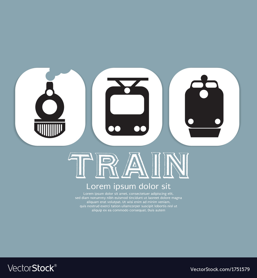 Vintage train collection vector | Price: 1 Credit (USD $1)