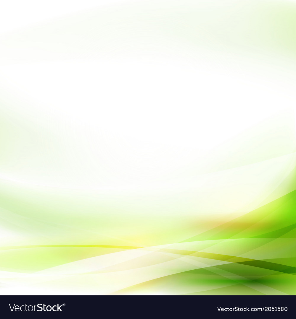 Abstract smooth green flow background vector | Price: 1 Credit (USD $1)