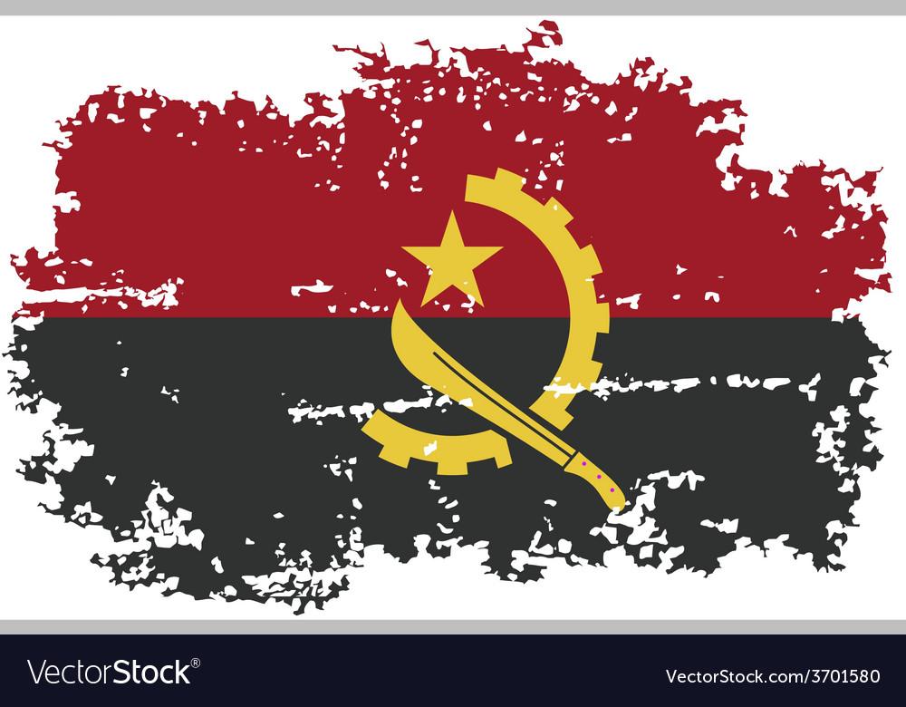 Angola grunge flag vector | Price: 1 Credit (USD $1)