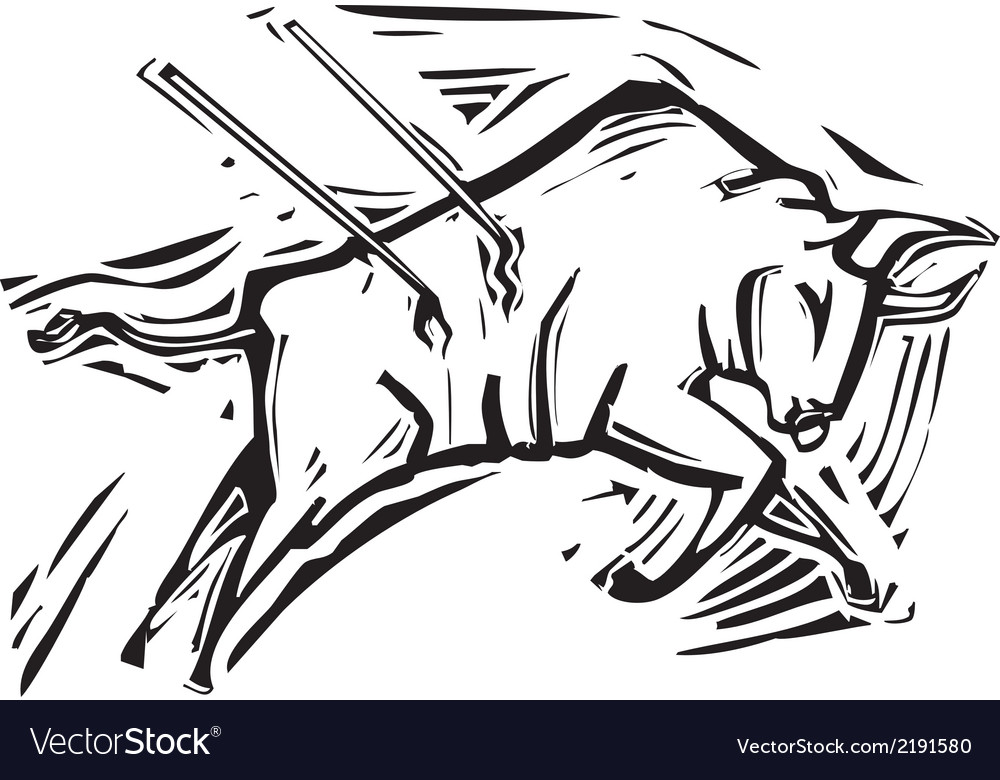 Charging bull vector | Price: 1 Credit (USD $1)