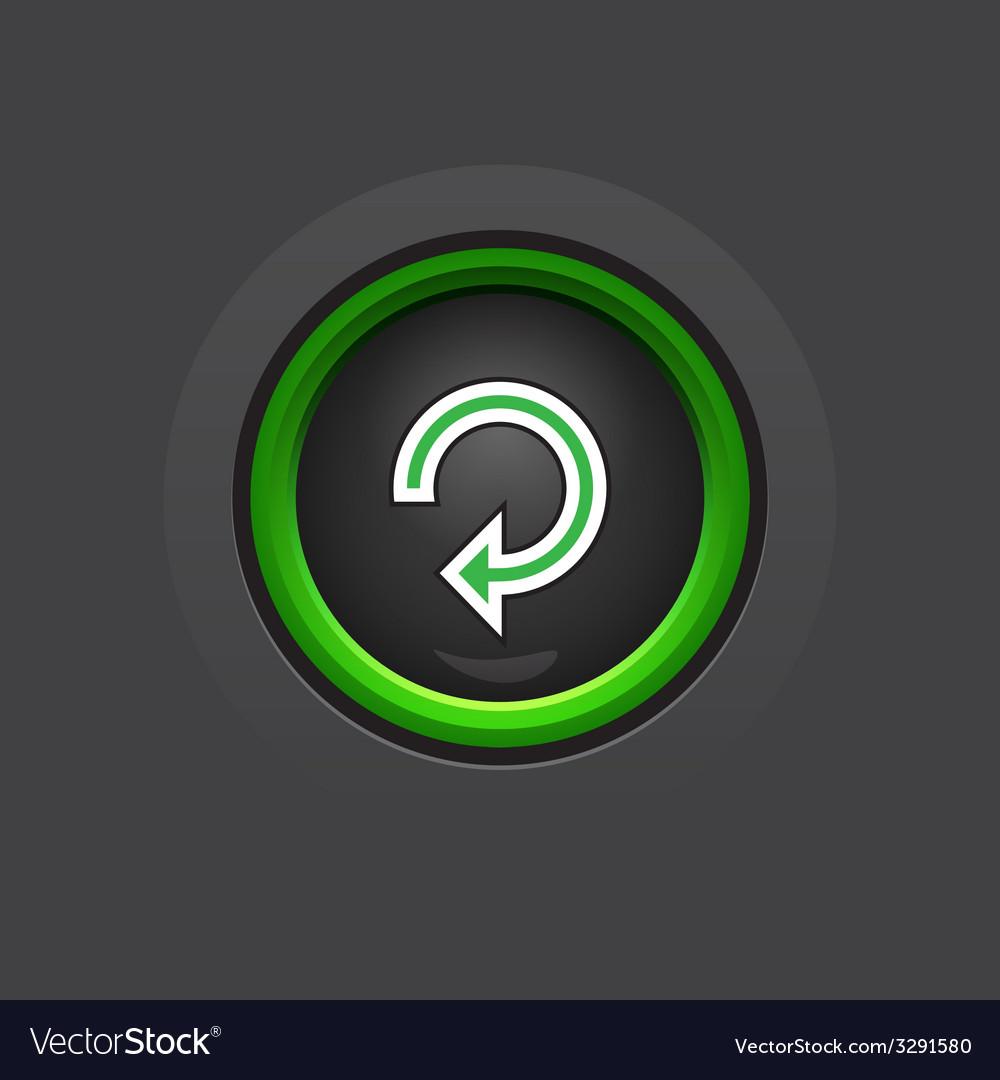 Dark circle glossy reload button vector | Price: 1 Credit (USD $1)