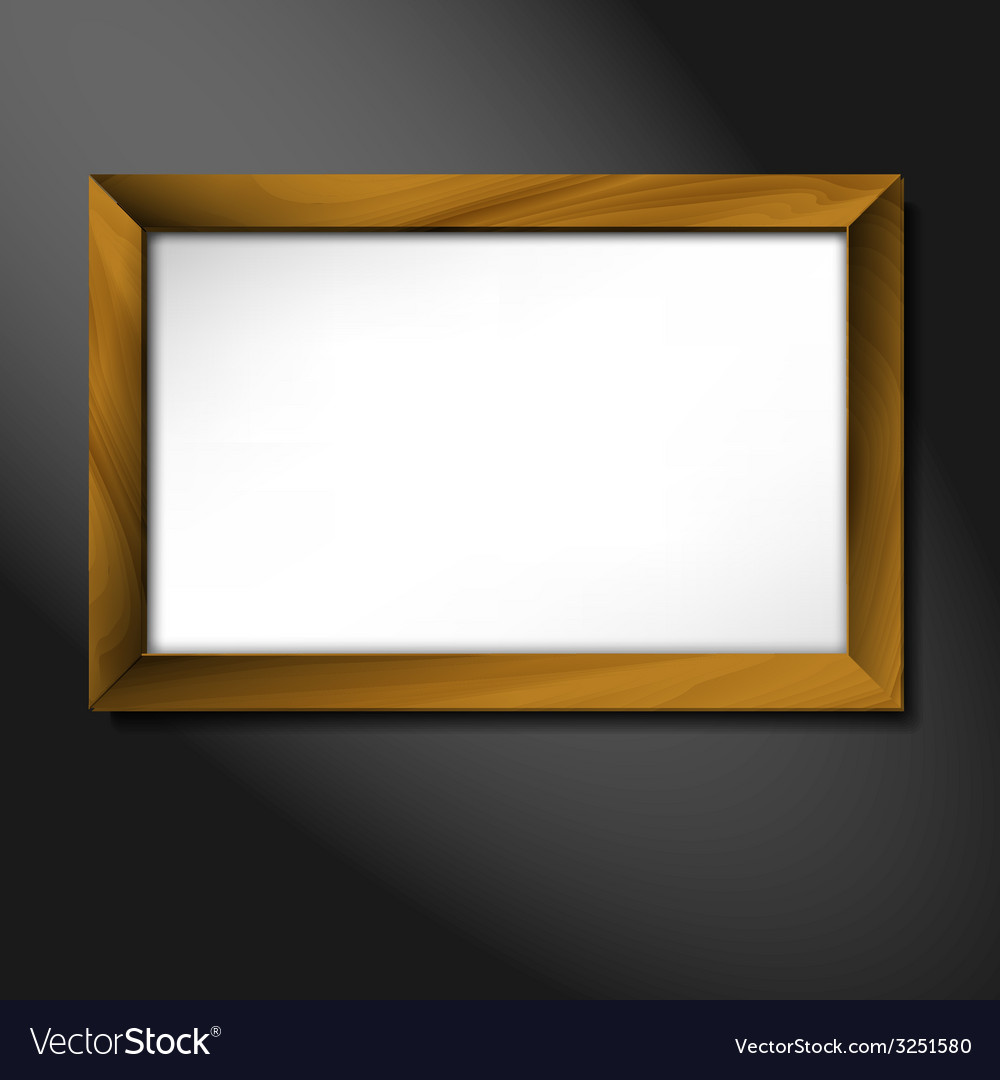 Empty wooden frame vector | Price: 1 Credit (USD $1)