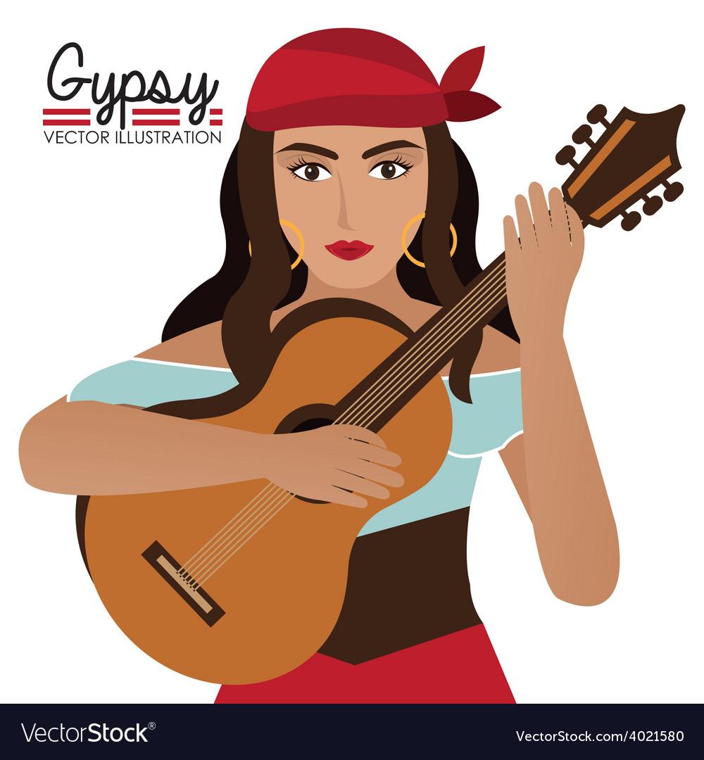 Gipsy design vector | Price: 1 Credit (USD $1)